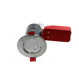 RA Ignis Brushed Chrome Fire Rated Downlights GU10