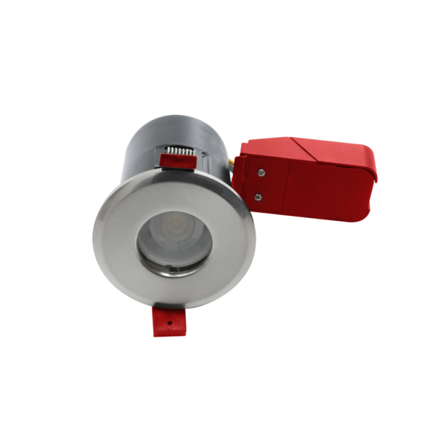 Fire Rated Bathroom GU10 Downlights Brushed Chrome
