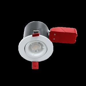 GU10 White Twist Lock Tilt Fire Rated Downlight
