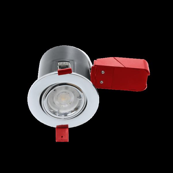 RA Ignis Plus GU10 Chrome Twist Lock Tilt Fire Rated Downlights