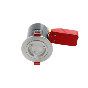 GU10 Brushed Chrome Twist Lock Fire Rated Downlights
