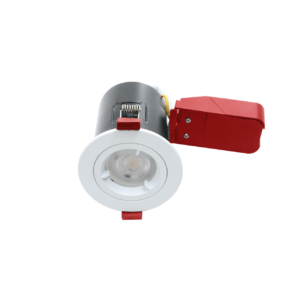 White Twist And Lock Fire Rated Downlights