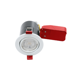 White Adjustable Fire Rated Downlights GU10