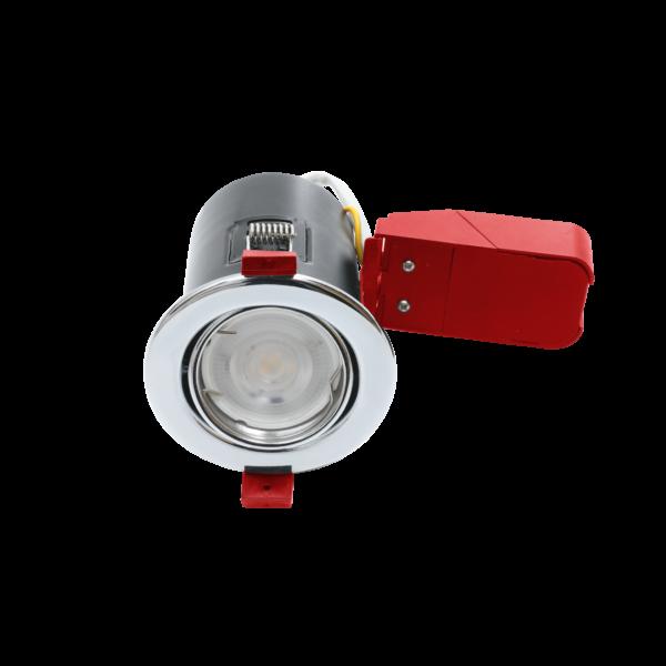 Polished Chrome Tilt Fire Rated Downlights GU10
