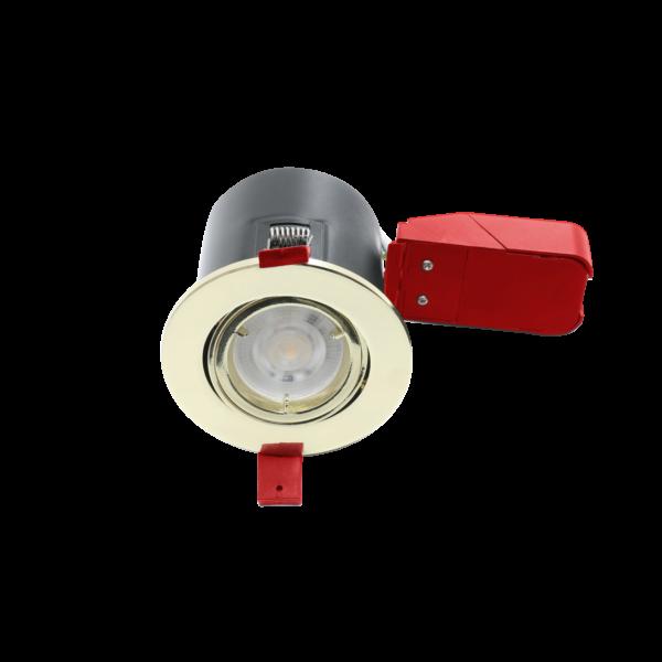 GU10 Brass Twist Lock Tilt Fire Rated Downlights