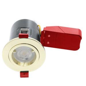GU10 Brass Twist Lock Fire Rated Downlights