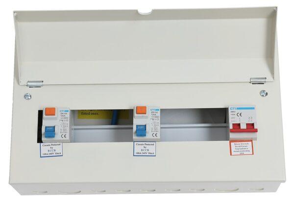 CTI Metal 10 Module Unpopulated Split Distribution Consumer Unit
