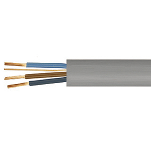 1.0mm Grey Three core and Earth Power Cable - Quickbit