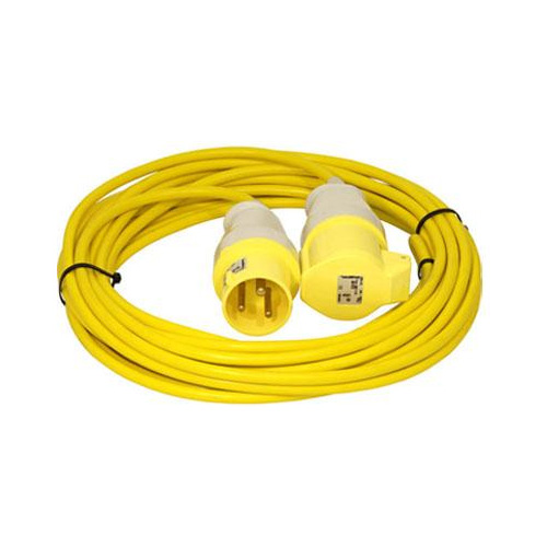 110V Yellow extension lead 16A x 10M