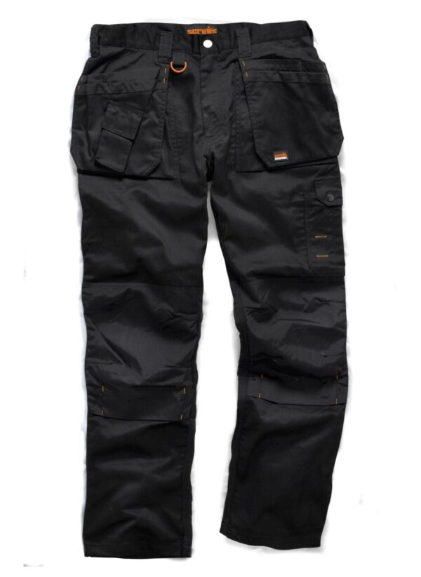 Scruffs Worker Plus black work trousers with multi-function pockets