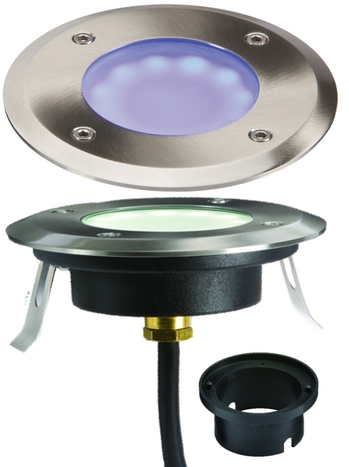 1.7W LED Shallow blue walkover / driveover groundlight