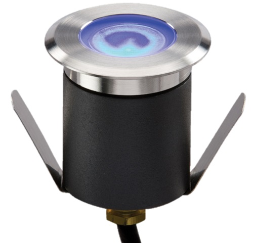 1W LED blue walkover / driveover groundlight