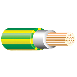 Green & Yellow Tri Rated Cable