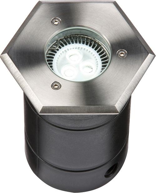Walkover driveway decking groundlights hexagonal GU10