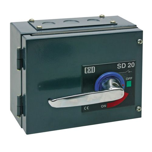 Metal industrial isolators 100A switch disconnector TPN metal enclosure