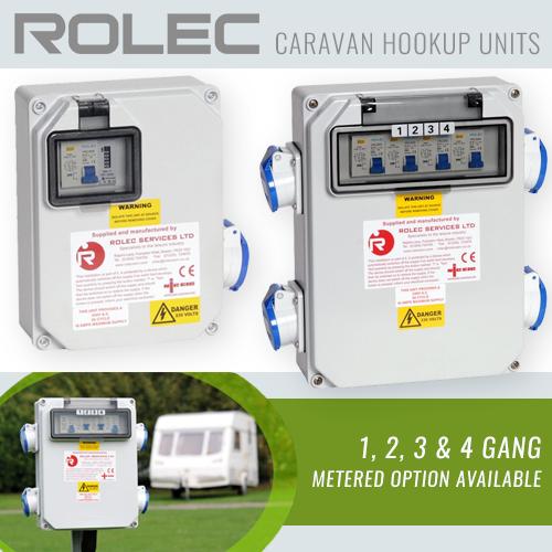 Caravan park electric hook up box 2 socket outlet 240V 16A