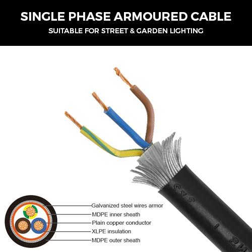 single phase armoured cable