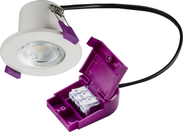 IP65 Dimmable 5W Fire Rated LED Downlight Polished Chrome