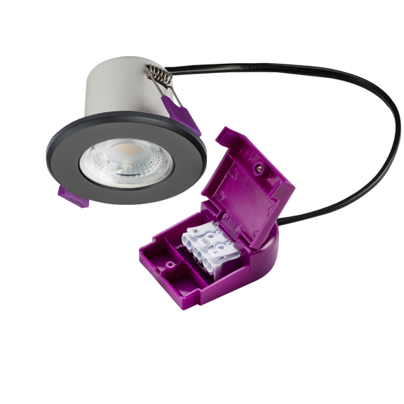 IP65 Dimmable 5W Fire Rated LED Downlight Matte Black
