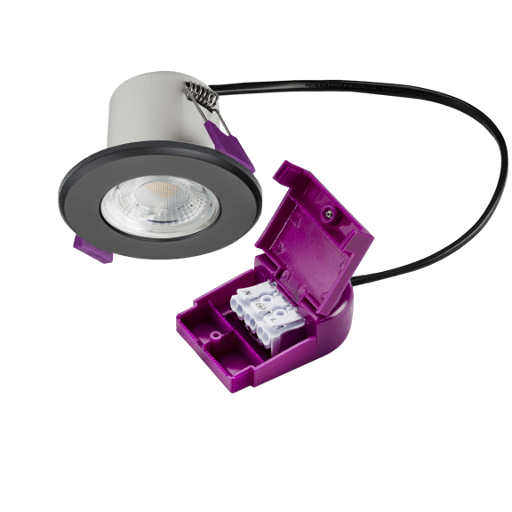 IP65 Dimmable 5W Fire Rated LED Downlight 4000K Matte Black