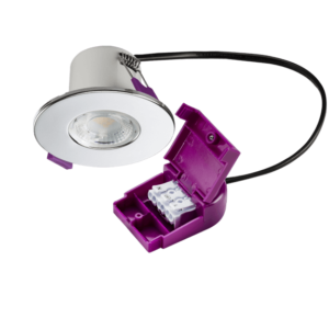 IP65 Dimmable 5W Fire Rated LED Downlight 4000K Polished Chrome
